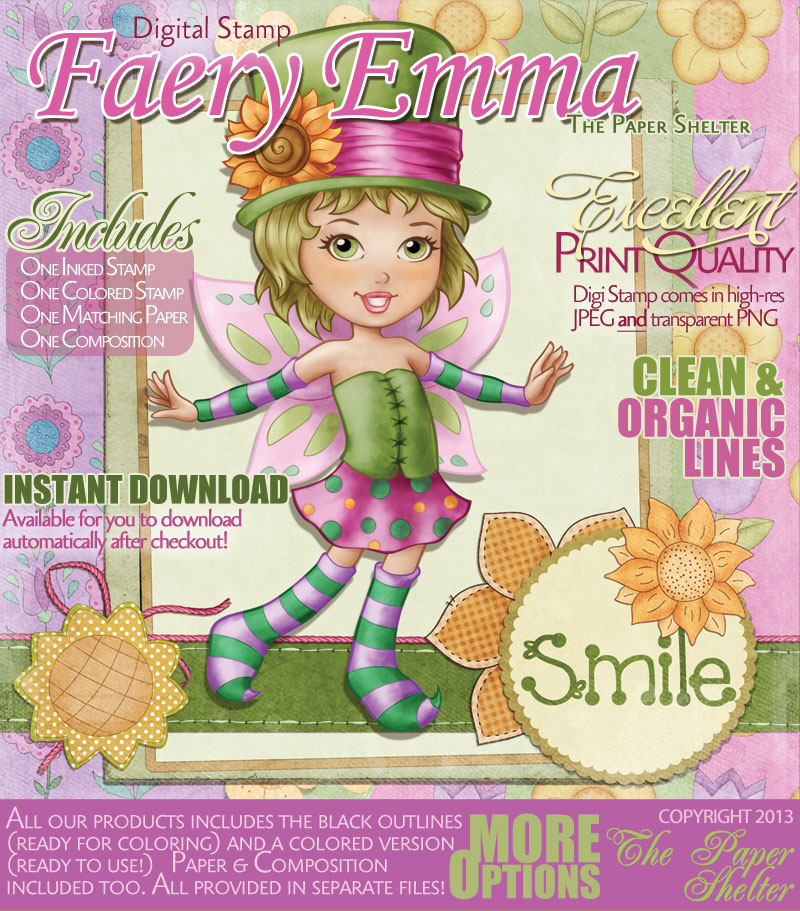 Fairy Emma - Digital Stamp - Click Image to Close