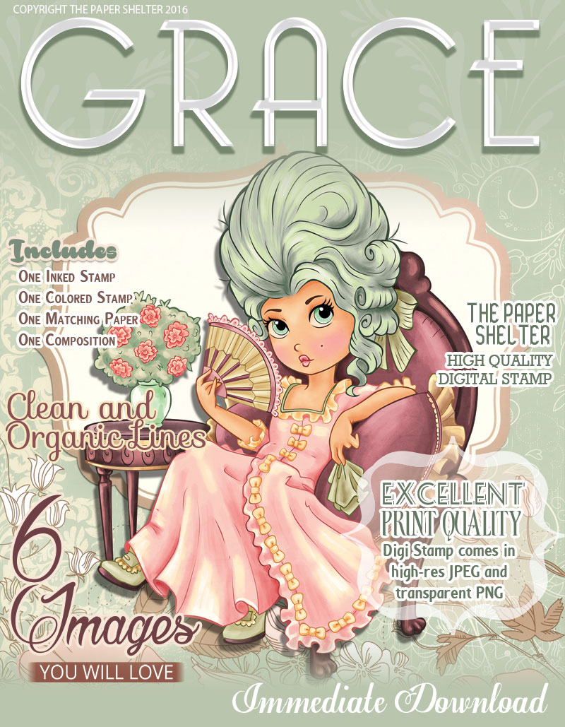 Grace - Digital Stamp - Click Image to Close