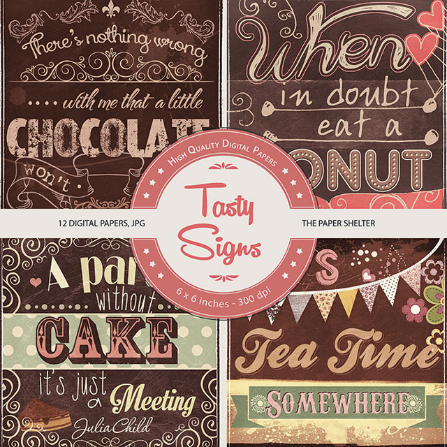 Tasty Signs - Paper Pack