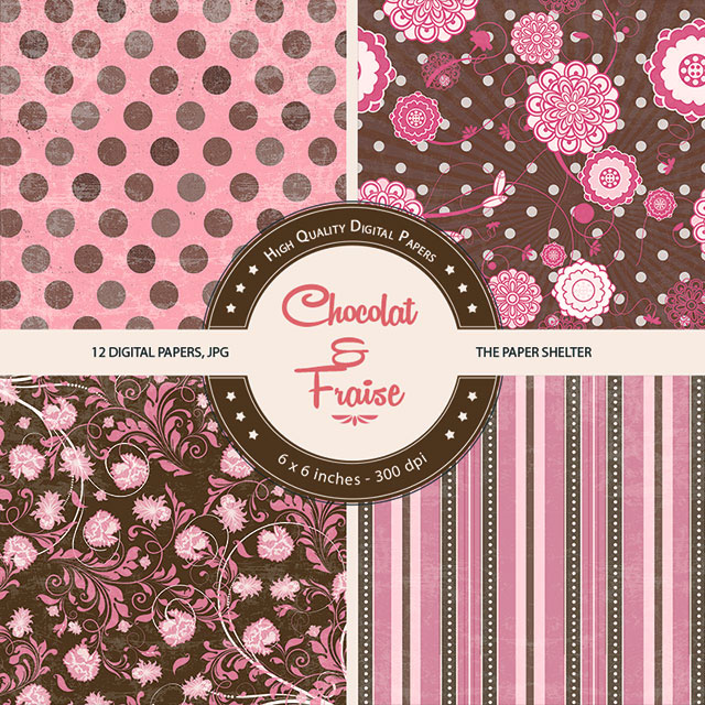 Chocolat & Fraise - Paper Pack