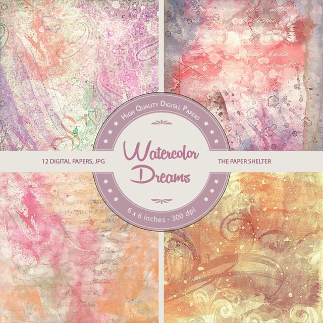 Watercolor Dreams - Paper Pack