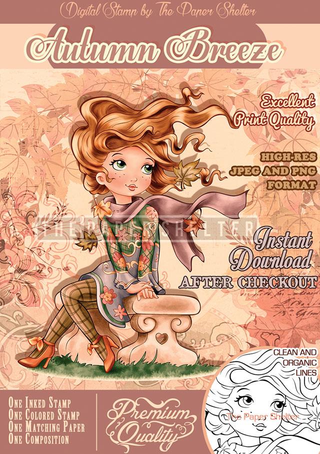 Autumn Breeze - Digital Stamp
