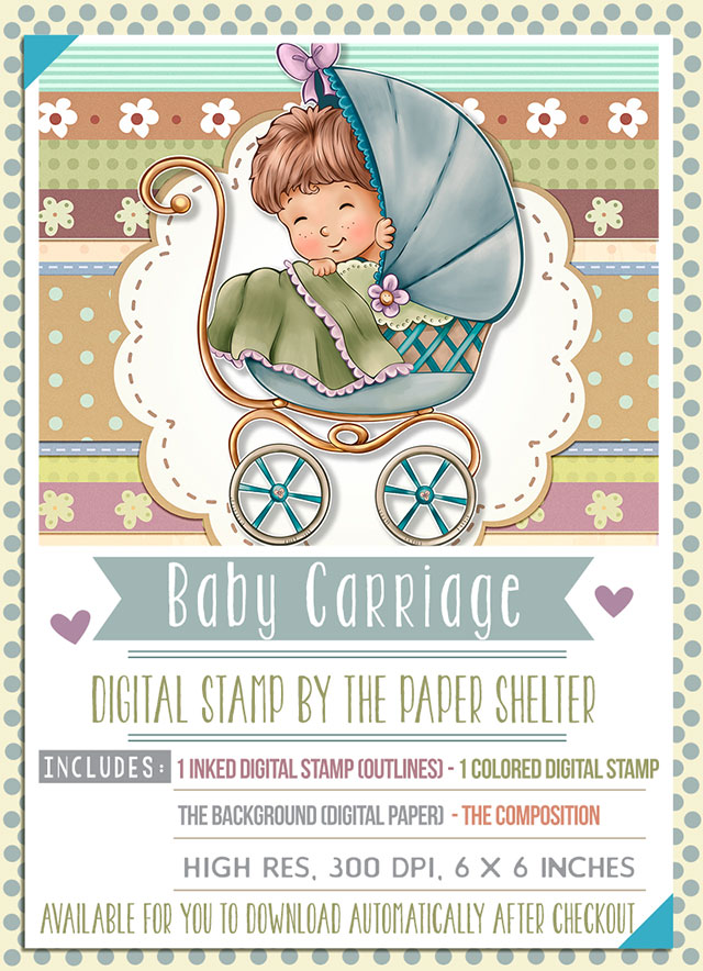 Baby Carriage - Digital Stamp