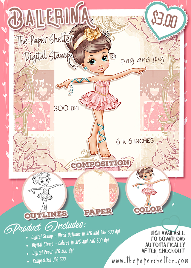 Ballerina - Digital Stamp