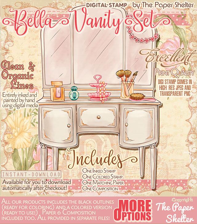Bella Vanity Set - Digital Stamp