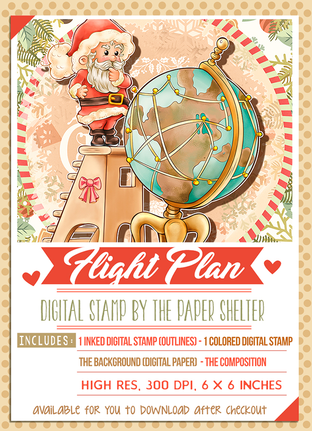 Flight Plan - Digital Stamp