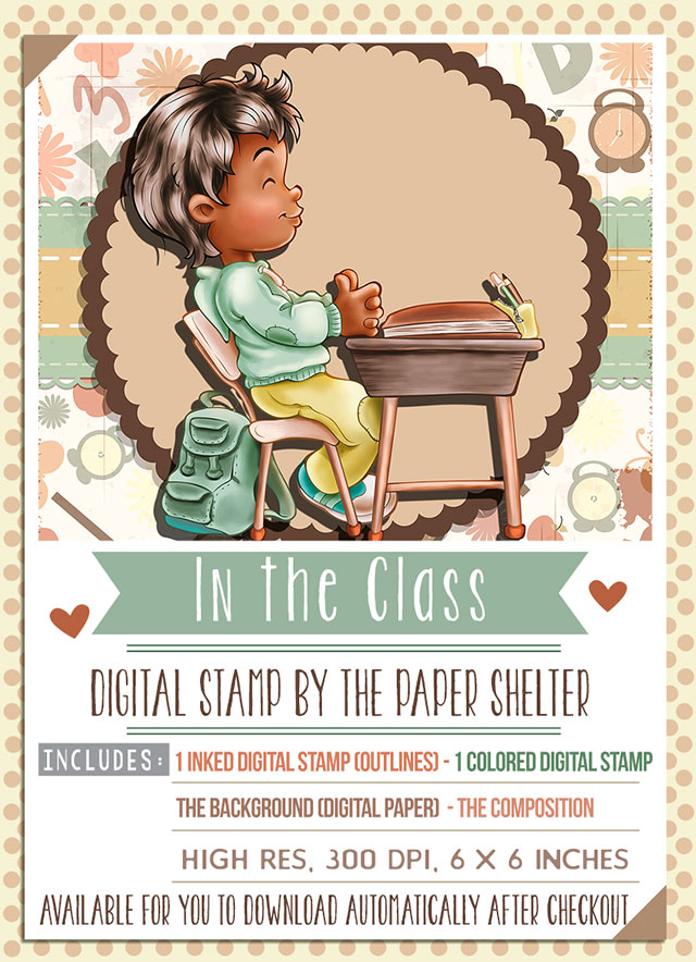 In the Class - Digital Stamp