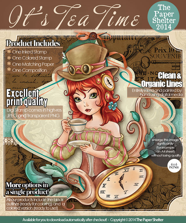 It's Tea Time! - Digital Stamp
