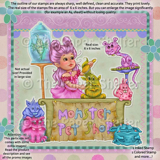Monster Pet Shop - Digital Stamp