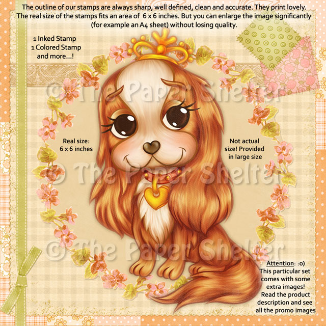 The Most Adorable Cavalier - Digital Stamp