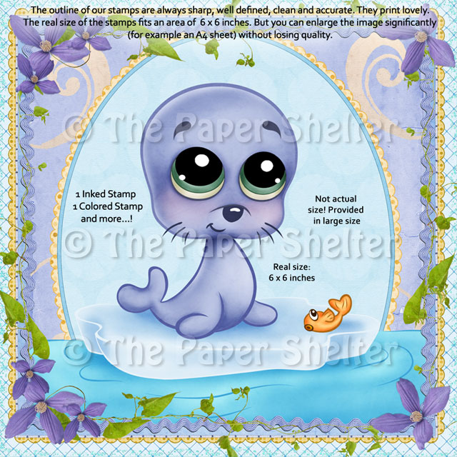 The Most Adorable Seal - Digital Stamp
