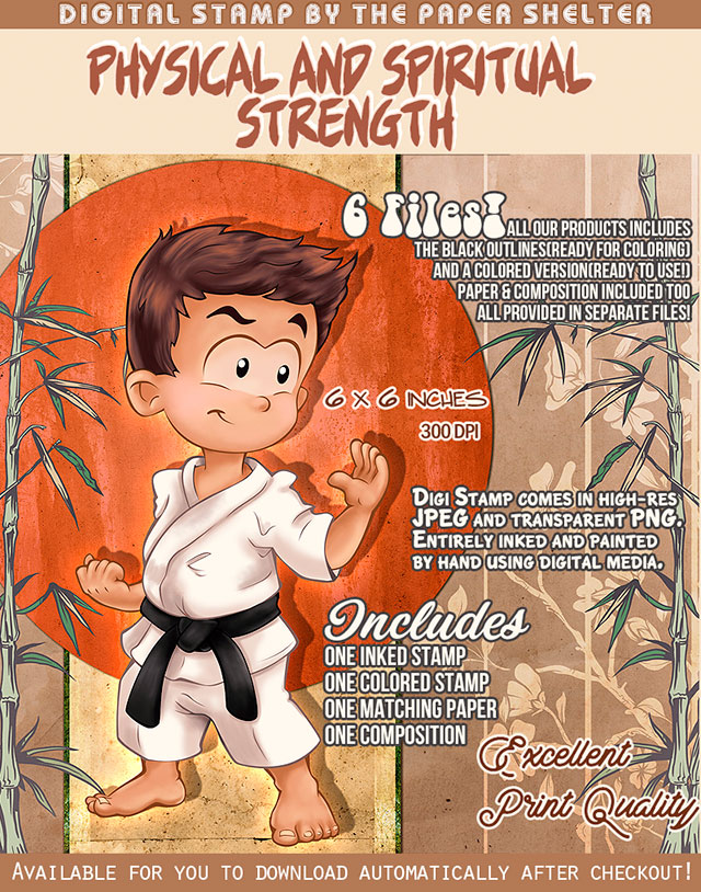 Physical and Spiritual Strength - Digital Stamp