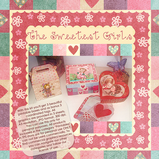 "Sweetest Girls - ""Printable kit"""