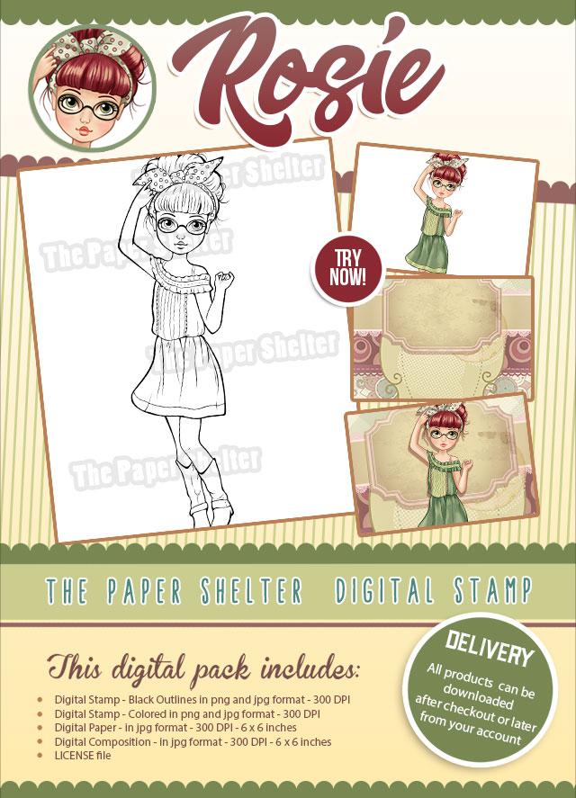 Rosie - Digital Stamp