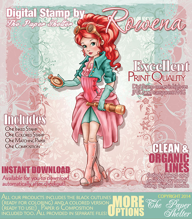 Rowena - Digital Stamp