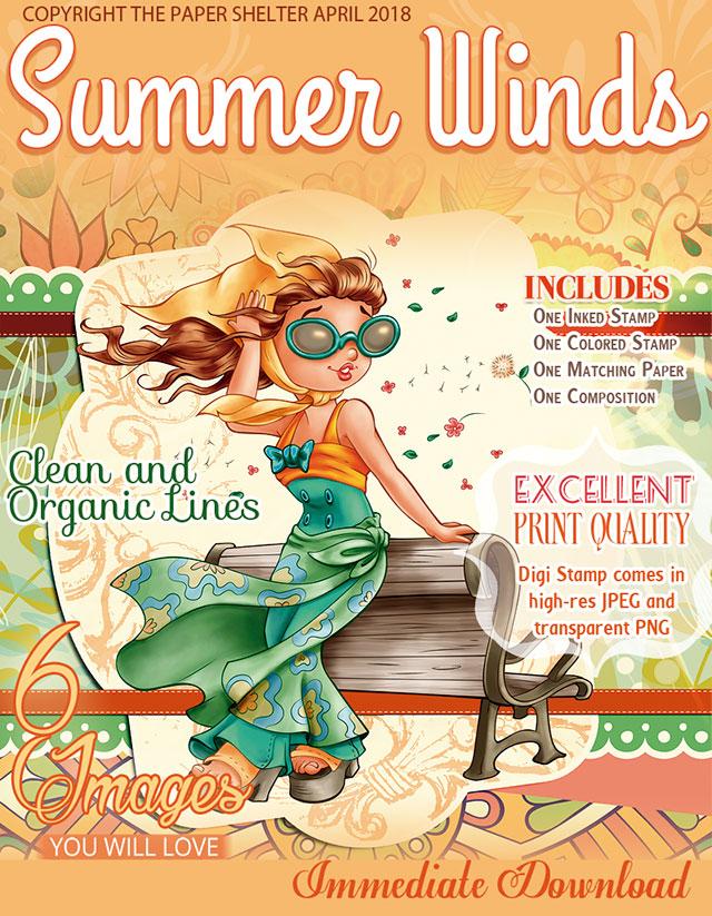 Summer Winds - Digital Stamp