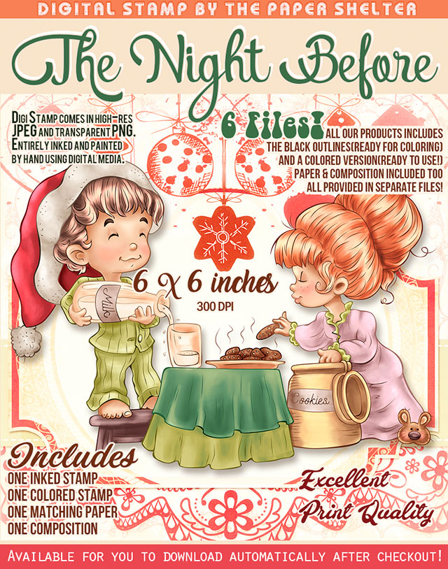 The Night Before - Digital Stamp