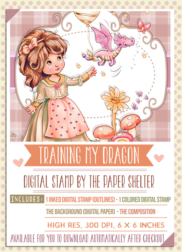 Training my Dragon - Digital Stamp