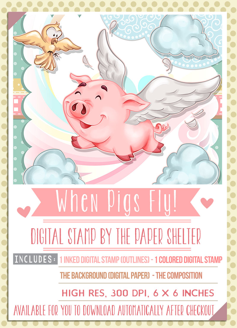 When Pigs Fly - Digital Stamp