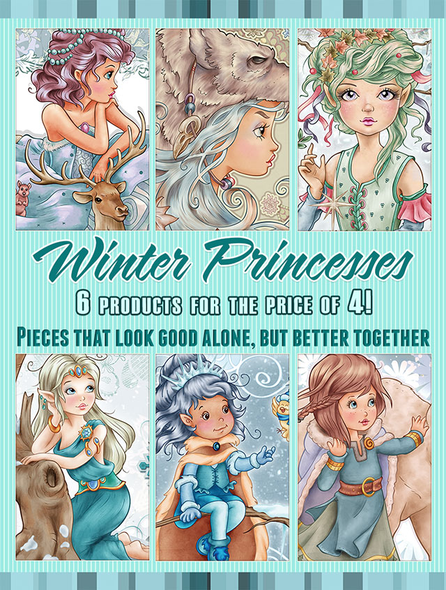 Winter Princesses Collection - 6 products for the price of 4
